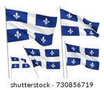 quebec province vector flags... | Shutterstock .eps vector #730856719