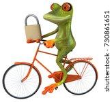fun frog   3d illustration   Shutterstock . vector #730861651