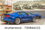 Small photo of LAS VEGAS, NV/USA - September 25, 2017: Two Shelby Ford Mustang cars, one a 2018 pre-production model at The Shelby Heritage Center, part of Shelby American, Inc.