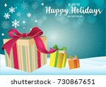 happy holidays. new year ... | Shutterstock .eps vector #730867651