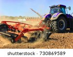 agriculture. the tractor... | Shutterstock . vector #730869589