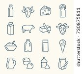 milk products line icon set | Shutterstock .eps vector #730875811