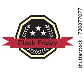 isolated vintage black friday... | Shutterstock .eps vector #730877077