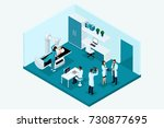 qualitative isometry  3d... | Shutterstock .eps vector #730877695
