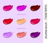 smears of lipstick set.... | Shutterstock .eps vector #730878991