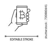 bitcoin digital wallet linear... | Shutterstock .eps vector #730880641
