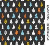christmas wrapping paper... | Shutterstock .eps vector #730880905