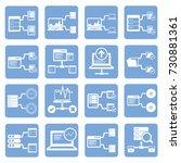 database server icon set  vector | Shutterstock .eps vector #730881361