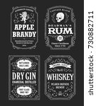 hand drawn vector alcoholic... | Shutterstock .eps vector #730882711