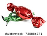 Wrapped Candies Isolated On...