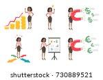 businesswoman illustrations set.... | Shutterstock .eps vector #730889521