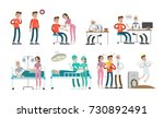 man with cancer set. illness... | Shutterstock .eps vector #730892491