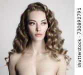 black and white art portrait of ...   Shutterstock . vector #730892791