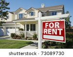 left facing red for rent real... | Shutterstock . vector #73089730