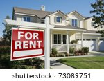right facing red for rent real... | Shutterstock . vector #73089751
