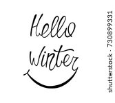 hello winter lettering with... | Shutterstock .eps vector #730899331