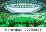soccer stadium with saudi... | Shutterstock .eps vector #730900675