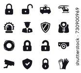 16 vector icon set   lock ... | Shutterstock .eps vector #730900969