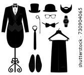 men's accessories. wedding men... | Shutterstock .eps vector #730904065