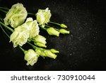 lisianthus  eustoma. white... | Shutterstock . vector #730910044