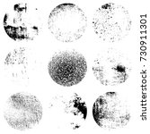 distress circular textures set... | Shutterstock .eps vector #730911301