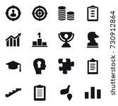 16 vector icon set   target... | Shutterstock .eps vector #730912864