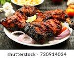 arabian food concept  fried... | Shutterstock . vector #730914034
