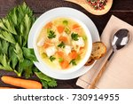 an overhead photo of a plate of ... | Shutterstock . vector #730914955