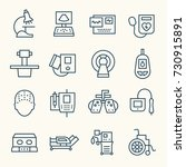 Medical Equipment Line Icon Set