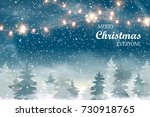 merry christmas everyone.... | Shutterstock .eps vector #730918765