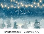 winter is coming. winter... | Shutterstock .eps vector #730918777