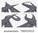 set of 9 asphalt road concepts... | Shutterstock .eps vector #730919515
