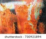 rusty metal texture background | Shutterstock . vector #730921894
