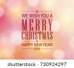 merry christmas and happy new... | Shutterstock . vector #730924297