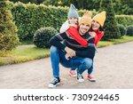 beautiful female  little girl... | Shutterstock . vector #730924465