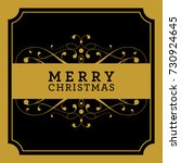 christmas and new year greeting ... | Shutterstock . vector #730924645
