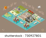 set of isometric high quality... | Shutterstock .eps vector #730927801