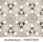 ethnic design. striped... | Shutterstock . vector #730927855