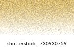 gold confetti christmas border. ... | Shutterstock .eps vector #730930759