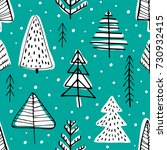 winter seamless background with ... | Shutterstock .eps vector #730932415