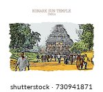 vector illustration of konark... | Shutterstock .eps vector #730941871