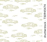 taxi pattern. design for... | Shutterstock .eps vector #730945474