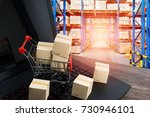 warehouse storage of retail... | Shutterstock . vector #730946101