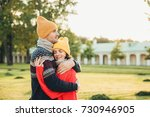 people and closeness concept.... | Shutterstock . vector #730946905