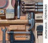 various woodworking  repairing  ... | Shutterstock . vector #730946965