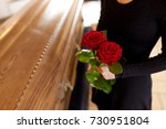 people and mourning concept  ... | Shutterstock . vector #730951804