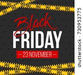 abstract vector black friday... | Shutterstock .eps vector #730953775