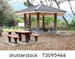 Chair And Pavillion In Country...