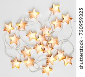 glowing christmas lights on... | Shutterstock . vector #730959325