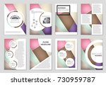 abstract vector layout... | Shutterstock .eps vector #730959787